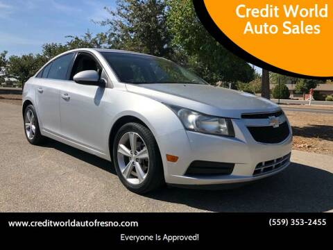 2012 Chevrolet Cruze for sale at Credit World Auto Sales in Fresno CA
