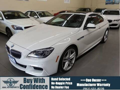 2015 BMW 6 Series for sale at ASAL AUTOSPORTS in Corona CA