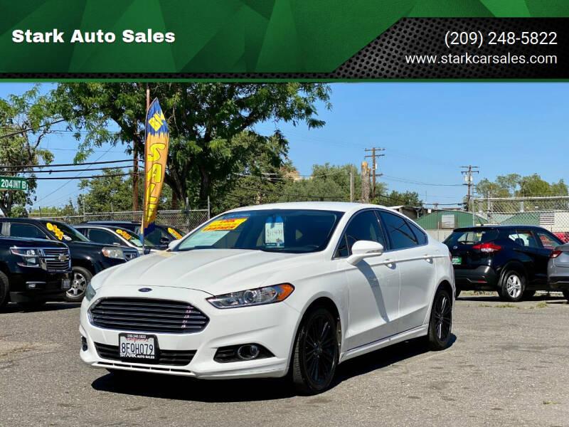 2013 Ford Fusion for sale at Stark Auto Sales in Modesto CA