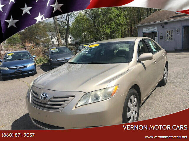 2007 Toyota Camry for sale at VERNON MOTOR CARS in Vernon Rockville CT