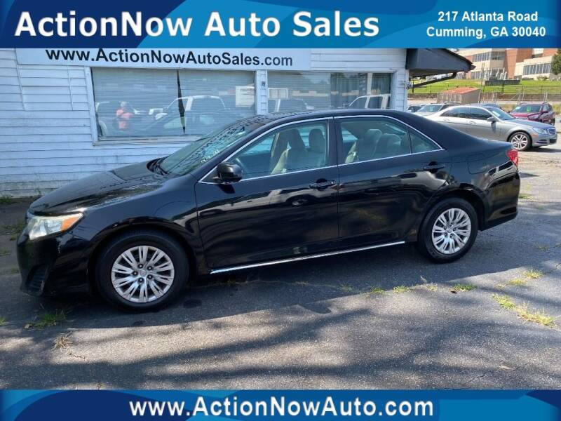 2012 Toyota Camry for sale at ACTION NOW AUTO SALES in Cumming GA