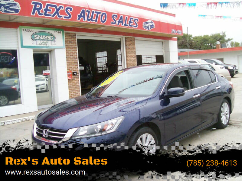 2013 Honda Accord for sale at Rex's Auto Sales in Junction City KS