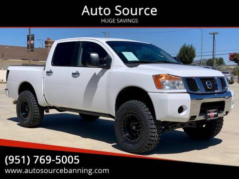 2004 Nissan Titan for sale at Auto Source in Banning CA