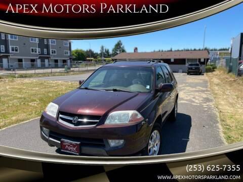 2001 Acura MDX for sale at Apex Motors Parkland in Tacoma WA