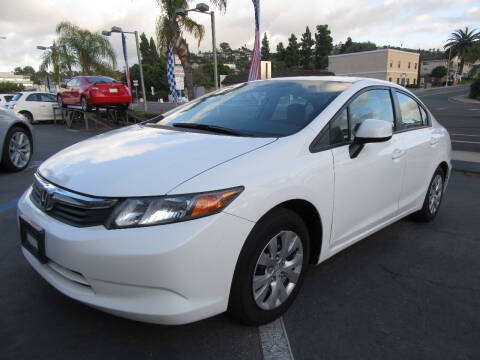 2012 Honda Civic for sale at Eagle Auto in La Mesa CA