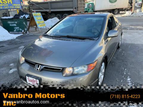 2006 Honda Civic for sale at Vanbro Motors Inc in Staten Island NY