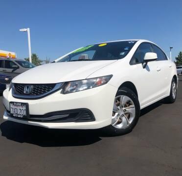 2013 Honda Civic for sale at LUGO AUTO GROUP in Sacramento CA