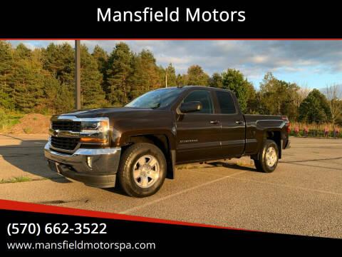 2018 Chevrolet Silverado 1500 for sale at Mansfield Motors in Mansfield PA