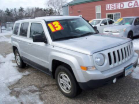 2013 Jeep Patriot for sale at Country Side Car Sales in Elk River MN