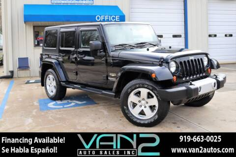 2012 Jeep Wrangler Unlimited for sale at Van 2 Auto Sales Inc in Siler City NC