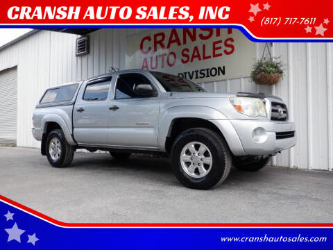 2010 Toyota Tacoma for sale at CRANSH AUTO SALES, INC in Arlington TX