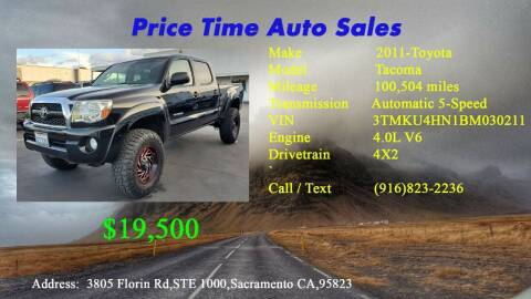 2011 Toyota Tacoma for sale at PRICE TIME AUTO SALES in Sacramento CA