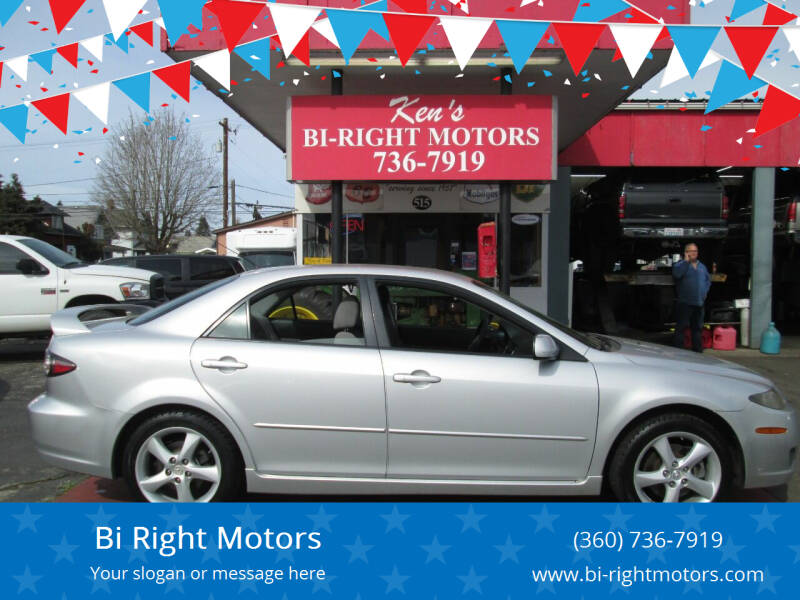 2008 Mazda MAZDA6 for sale at Bi Right Motors in Centralia WA