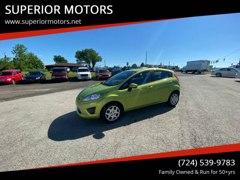 2011 Ford Fiesta for sale at SUPERIOR MOTORS in Latrobe PA