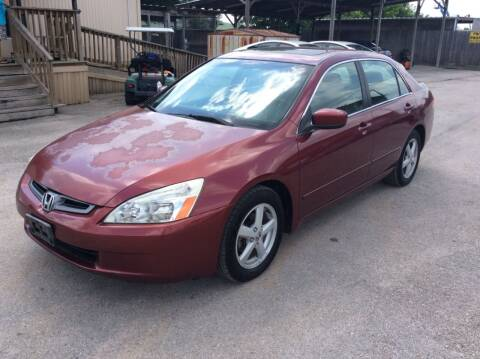 2003 Honda Accord for sale at OASIS PARK & SELL in Spring TX