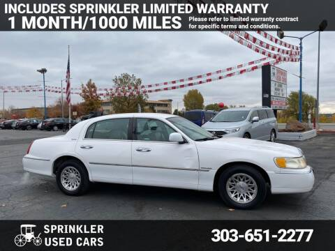 1998 Lincoln Town Car for sale at Sprinkler Used Cars in Longmont CO