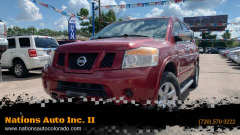 2008 Nissan Armada for sale at Nations Auto Inc. II in Denver CO