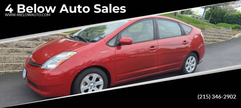 2006 Toyota Prius for sale at 4 Below Auto Sales in Willow Grove PA
