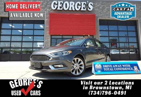 2017 Ford Fusion for sale at George's Used Cars - Telegraph in Brownstown MI