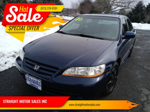 2001 Honda Accord for sale at STRAIGHT MOTOR SALES INC in Paterson NJ