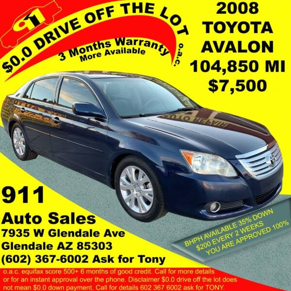 2008 Toyota Avalon for sale at 911 AUTO SALES LLC in Glendale AZ