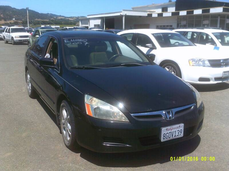 2007 Honda Accord for sale at Mendocino Auto Auction in Ukiah CA