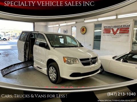 2014 Dodge Grand Caravan for sale at SPECIALTY VEHICLE SALES INC in Skokie IL