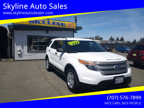 2013 Ford Explorer for sale at Skyline Auto Sales in Santa Rosa CA