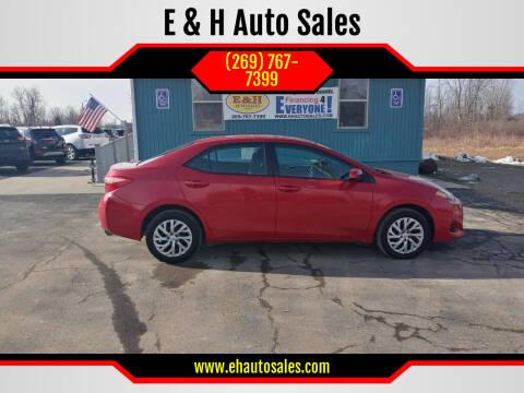 2018 Toyota Corolla for sale at E & H Auto Sales in South Haven MI