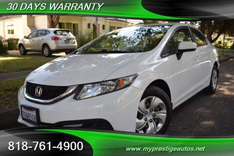 2015 Honda Civic for sale at Prestige Auto Sports Inc in North Hollywood CA