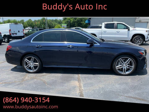 2017 Mercedes-Benz E-Class for sale at Buddy's Auto Inc in Pendleton, SC