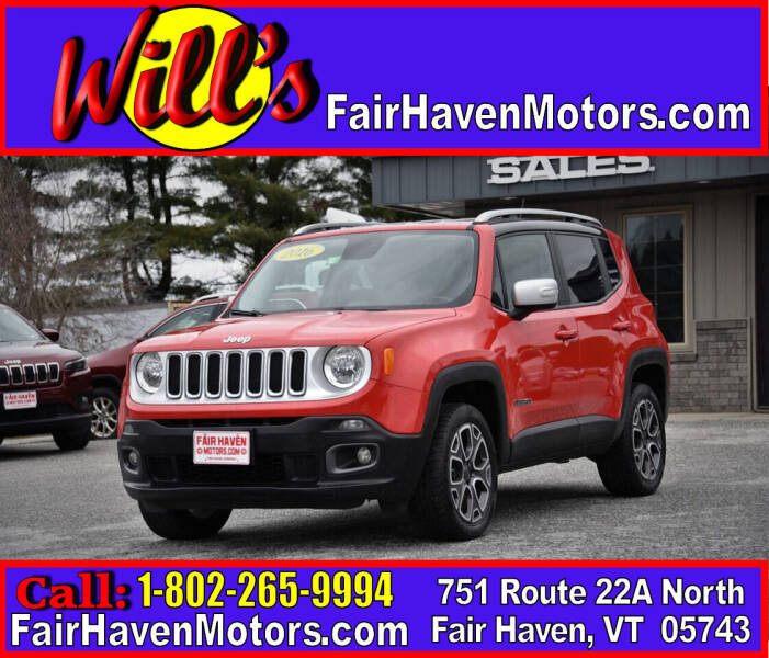 2016 Jeep Renegade for sale at Will's Fair Haven Motors in Fair Haven VT