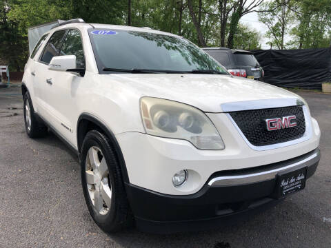 2007 GMC Acadia for sale at PARK AVENUE AUTOS in Collingswood NJ