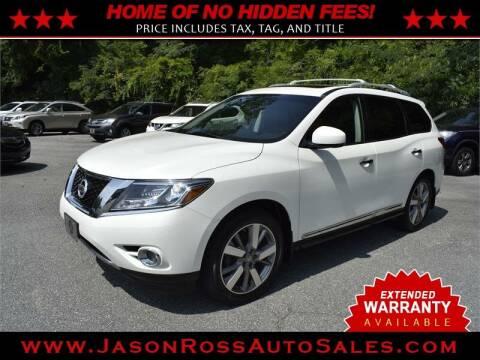 2015 Nissan Pathfinder for sale at Jason Ross Auto Sales in Burlington NC