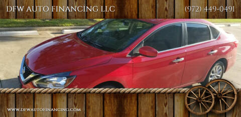 2018 Nissan Sentra for sale at DFW AUTO FINANCING LLC in Dallas TX