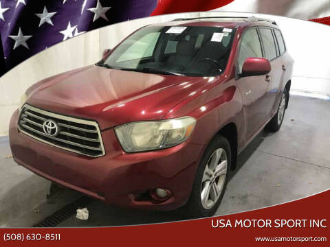 2008 Toyota Highlander for sale at USA Motor Sport inc in Marlborough MA