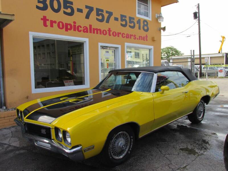 1972 Buick Skylark for sale at TROPICAL MOTOR CARS INC in Miami FL