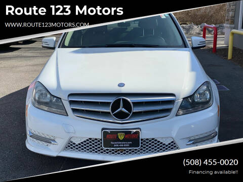 2013 Mercedes-Benz C-Class for sale at Route 123 Motors in Norton MA