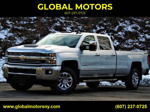 2018 Chevrolet Silverado 3500HD for sale at GLOBAL MOTORS in Binghamton NY