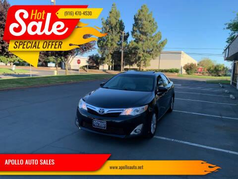 2012 Toyota Camry Hybrid for sale at APOLLO AUTO SALES in Sacramento CA