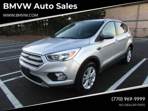2019 Ford Escape for sale at BMVW Auto Sales in Union City GA