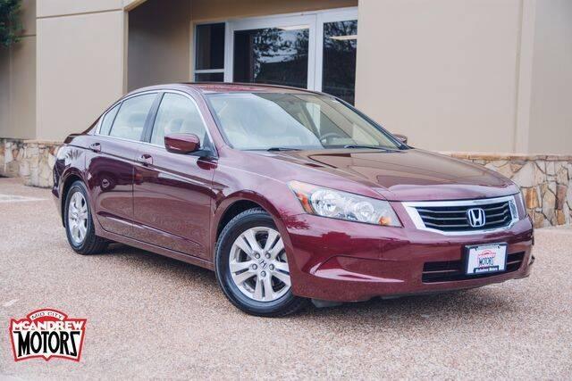 2008 Honda Accord for sale at Mcandrew Motors in Arlington TX