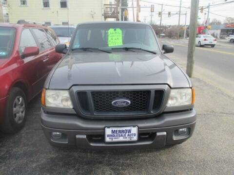 2005 Ford Ranger for sale at MERROW WHOLESALE AUTO in Manchester NH