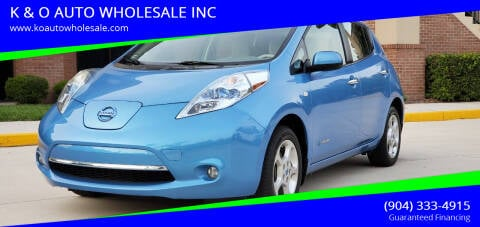 2011 Nissan LEAF for sale at K & O AUTO WHOLESALE INC in Jacksonville FL