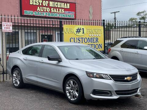 2016 Chevrolet Impala for sale at Best of Michigan Auto Sales in Detroit MI
