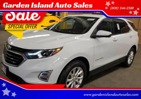2018 Chevrolet Equinox for sale at Garden Island Auto Sales in Lihue HI