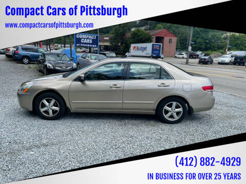 2004 Honda Accord for sale at Compact Cars of Pittsburgh in Pittsburgh PA