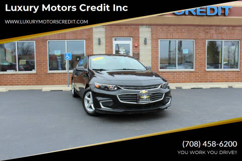 2017 Chevrolet Malibu for sale at Luxury Motors Credit Inc in Bridgeview IL