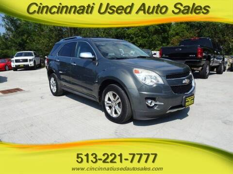 2012 Chevrolet Equinox for sale at Cincinnati Used Auto Sales in Cincinnati OH
