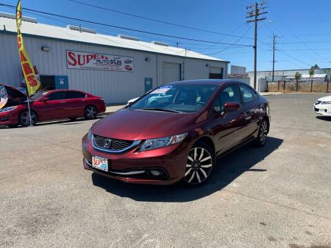 2015 Honda Civic for sale at SUPER AUTO SALES STOCKTON in Stockton CA